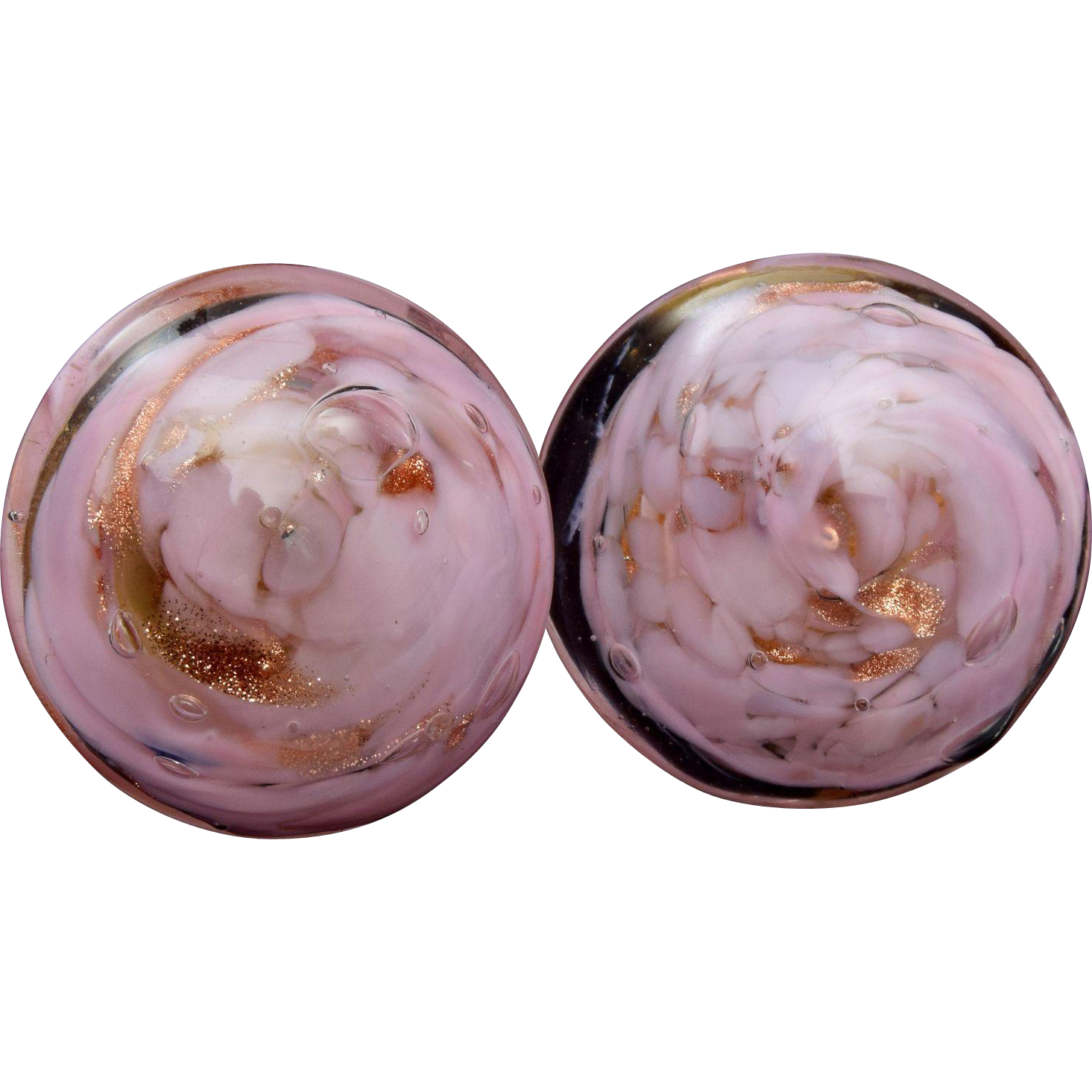 Made in Italy Pink Murano Glass Earrings