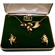 Dansal Gold Filled Necklace and Earring Set in Original Box