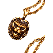 Sterling Lion Necklace