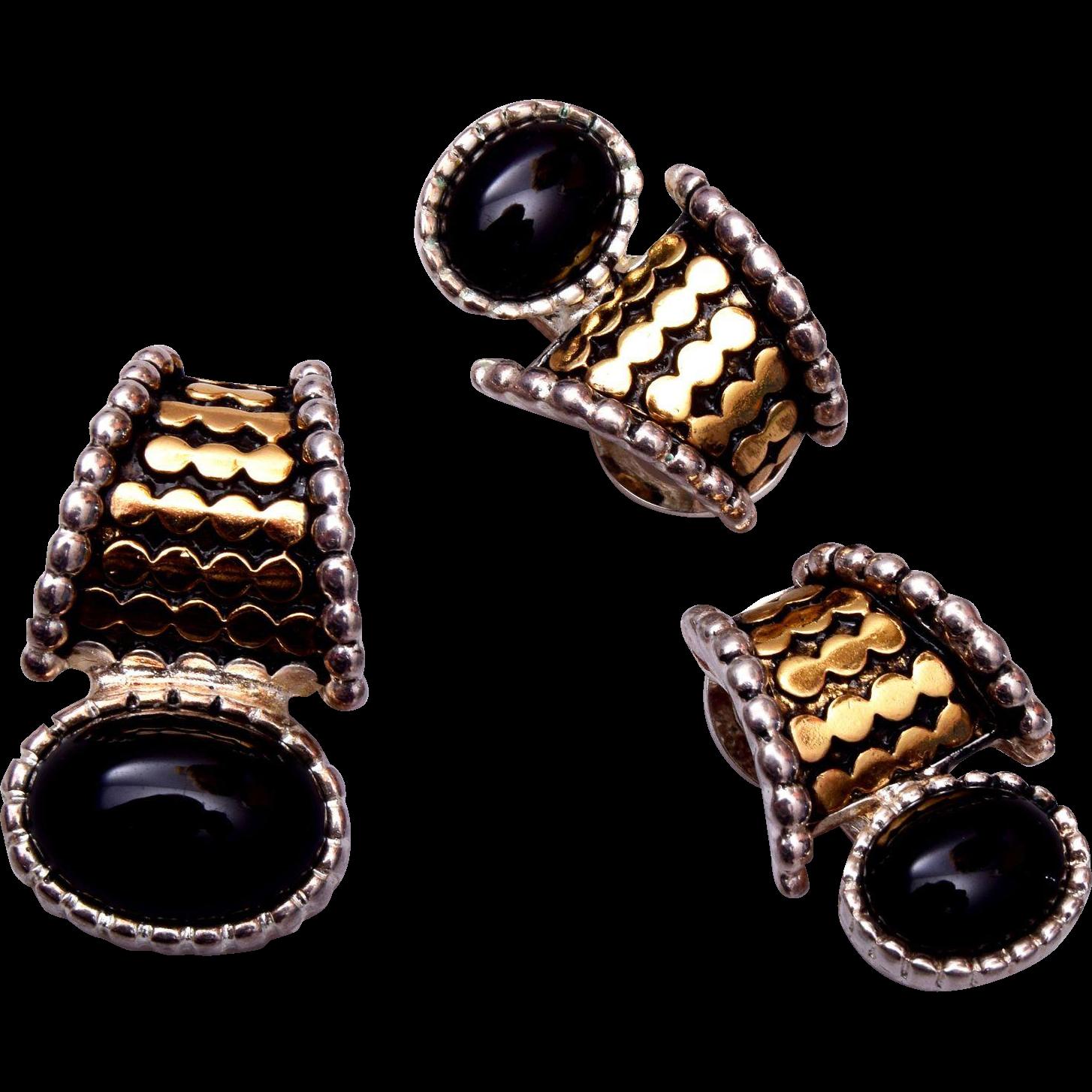 Premier Designs 2-Tone Pendant and Earring Set