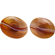 1960 Agate Cuff Links