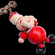 Dangling Santa Clause Brooch