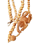 2 Strand Bone Monkey Necklace