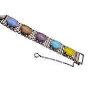Sarah Coventry Colorful Stone Bracelet