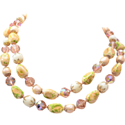 Vendome 2-Strand Art Glass and Crystal Necklace