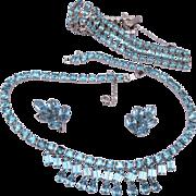 Weiss Aqua Parure 3 Piece Set