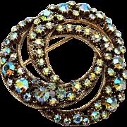 Florenza Aurora Borealis brooch