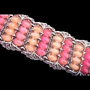 Two Tone Pink Molded Plastic Glowing Bracelet