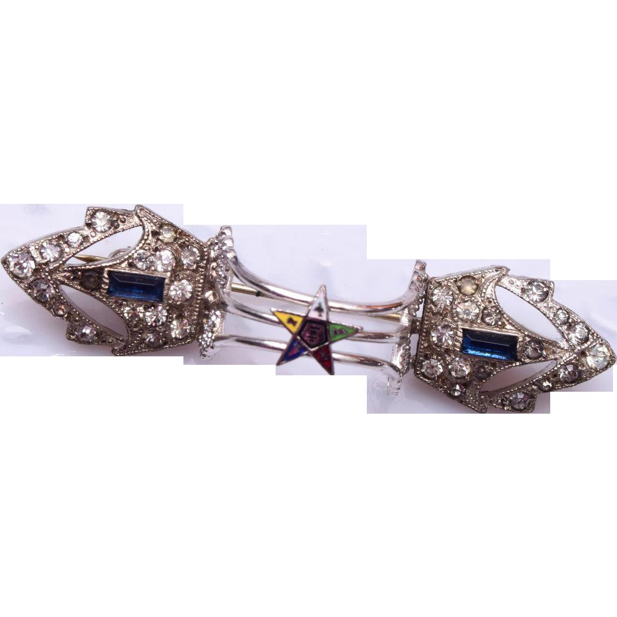 Eastern Star Pot Metal Scarf Clip