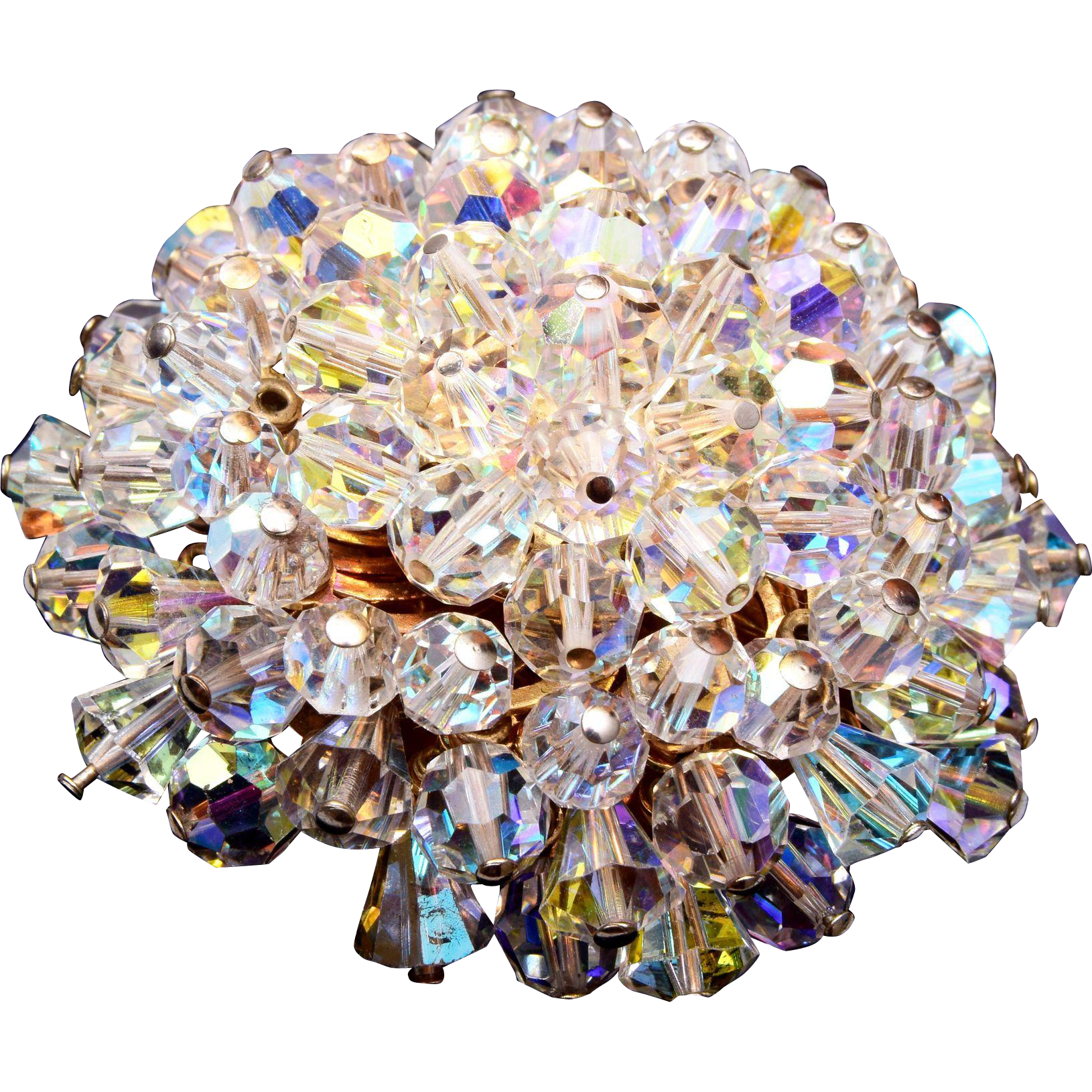Alice Caviness Clear Crystal Brooch