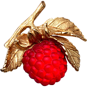 Napier Glowing Raspberry Brooch