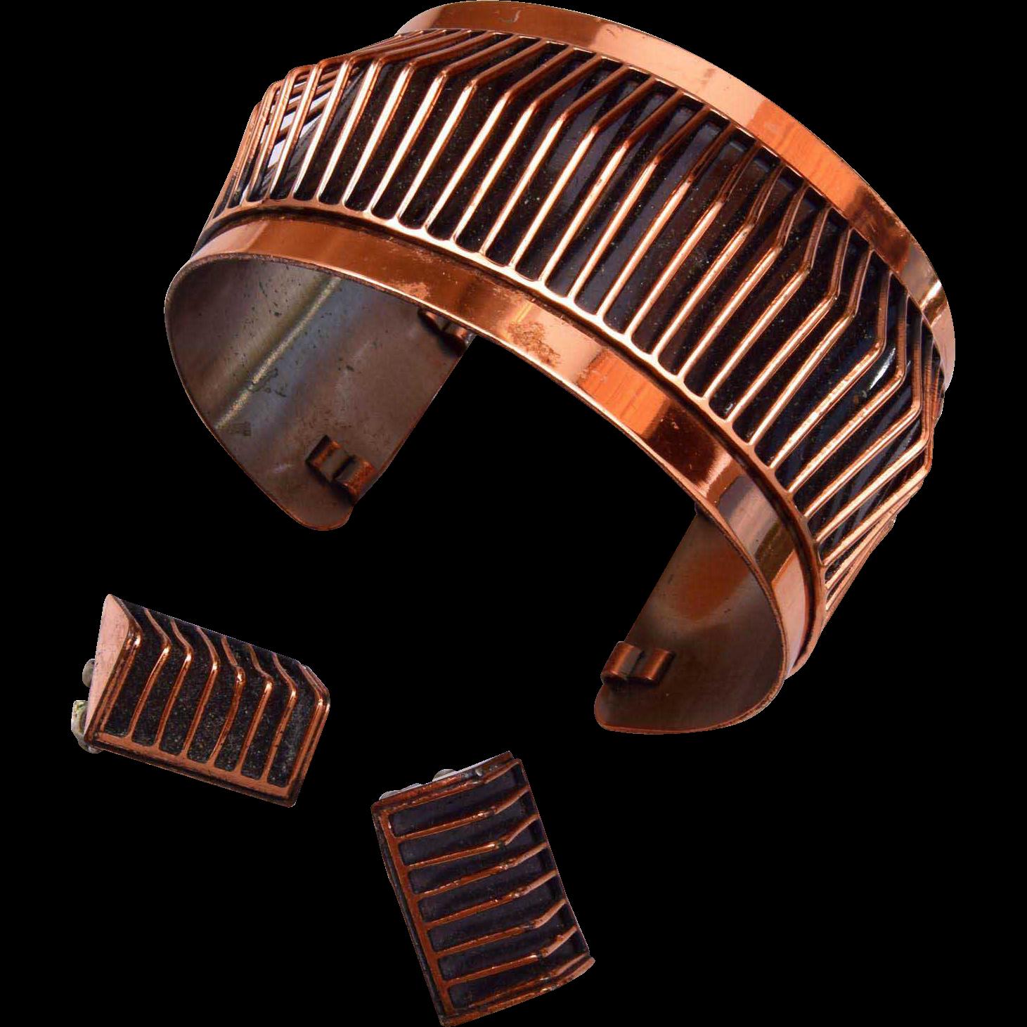Renoir Cuff Bracelet and Earring Set