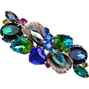 Blue and Green D&E Brooch