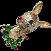 Gerry's Rudolph Christmas Reindeer Brooch