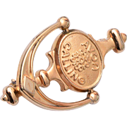 Avon Calling Door Knocker Award Brooch