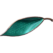 David Anderson Sterling Green Leaf Brooch