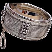 Vargas Hinged Bracelet with Mesh and Rhinestones
