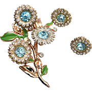 Mixed Metal Flower Trembler Set