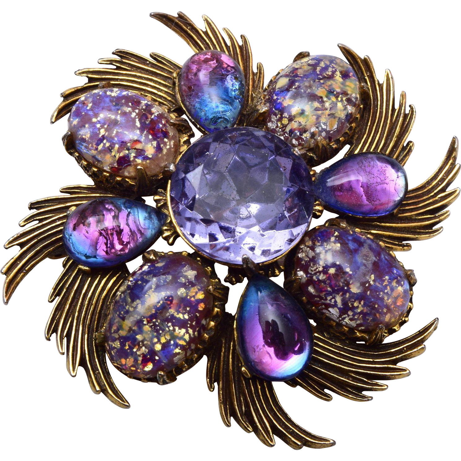 Florenza Brooch or Pendant With Confetti Stones