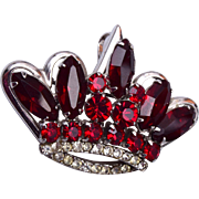 Red Crown Brooch or Pendant