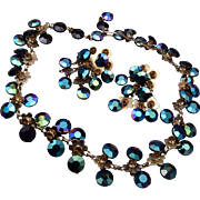 Vogue Jewelry Set - Blue Green Dangles
