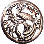 Sterling Pierced Through Bird Brooch