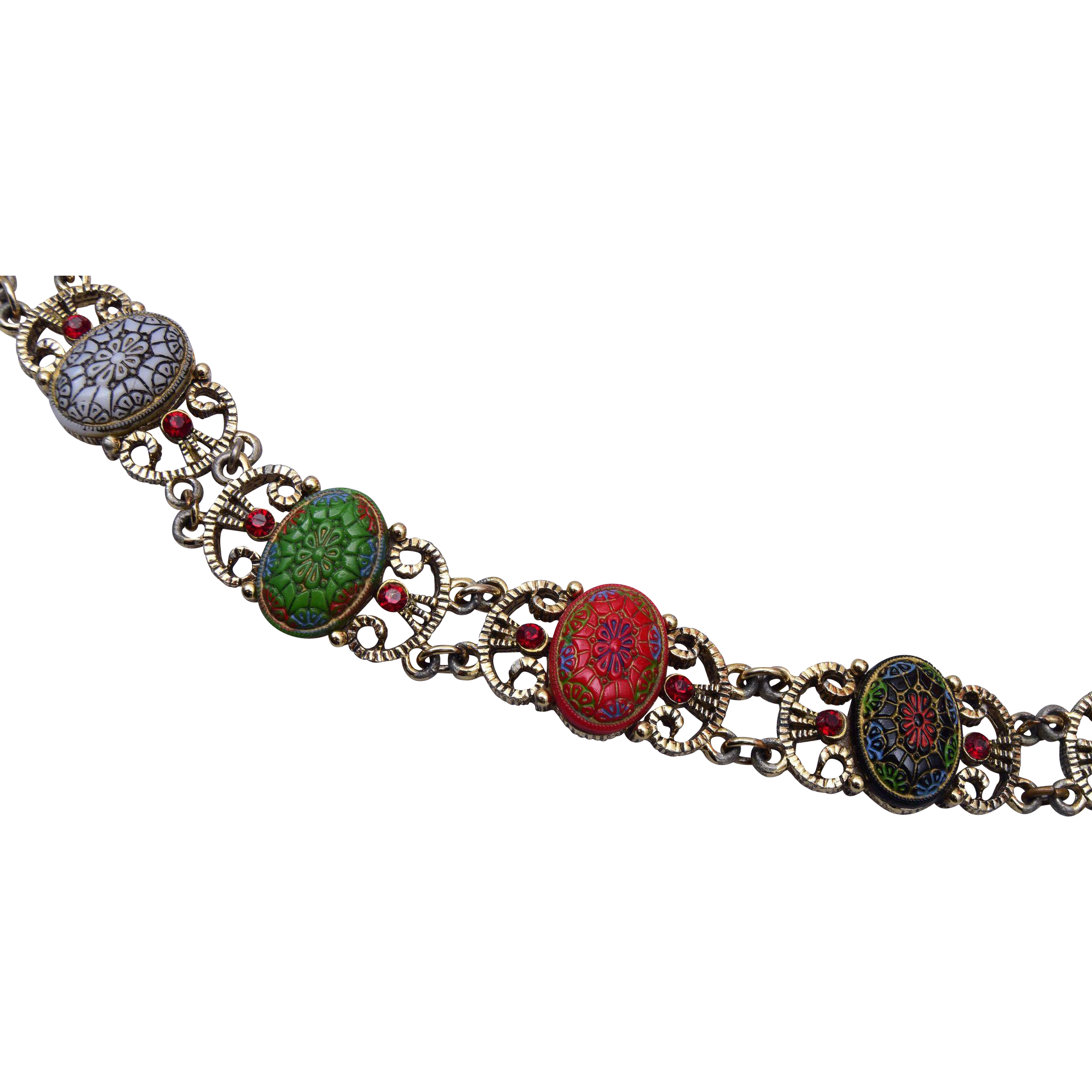 Tara Molded Colored Moroccan Glass Bracelet