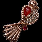 Reja Figural Bird Brooch