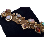 PIK NY Beautiful Mesh and Glass Slides Bracelet