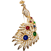 Gorgeous Peacock Brooch