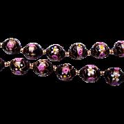 Black Italian Murano Wedding Cake Beaded Necklace