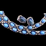 Jomaz Blue Glass Jelly Parure