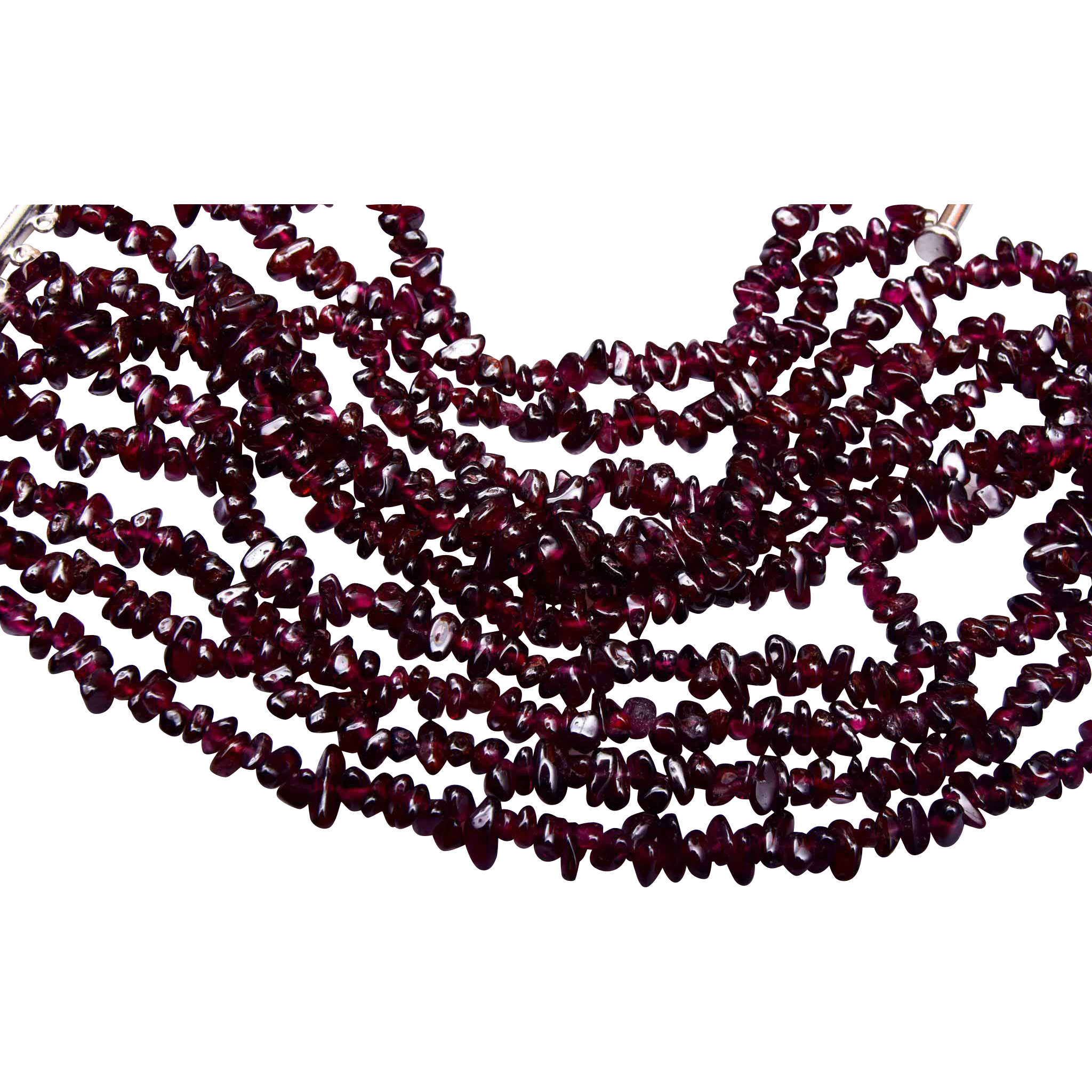 Garnet 4 Strand Necklace