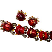Coro Bracelet and Earring Set