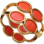 Pierre Cardin Orange Clamper Bracelet