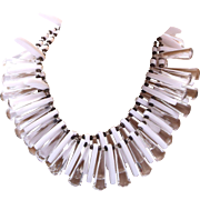 Les Bernard 2 Strand Lucite Collar Necklace