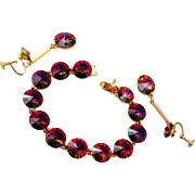 Weiss Rivoli Crystal Bracelet and Dangling Earring Set