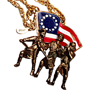 Spirit of 76 With Betsy Ross Flag Stanley Home Products Necklace