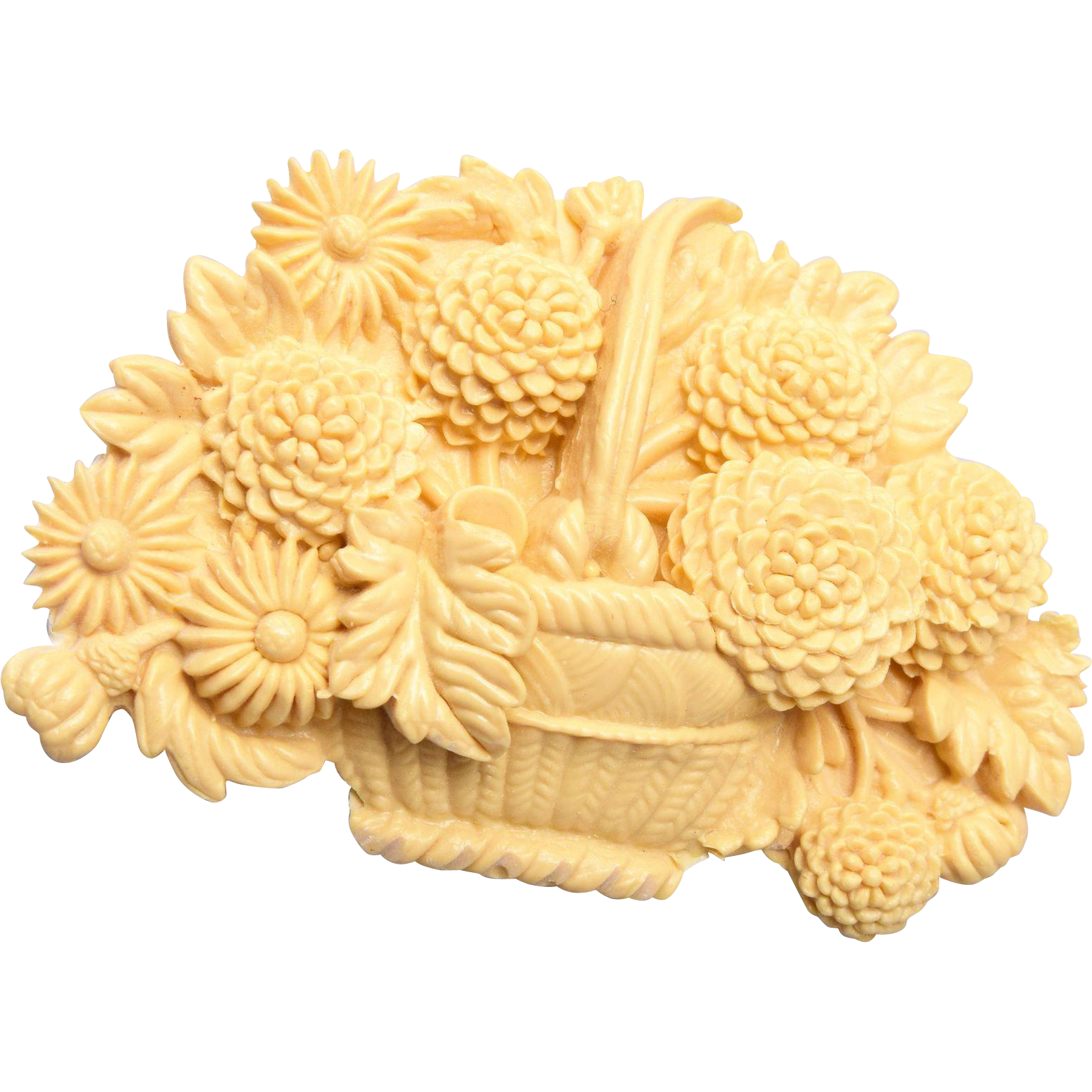 Lupa J Carved Bone Brooch or Pendant