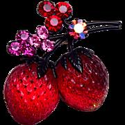 Austria Strawberry Brooch