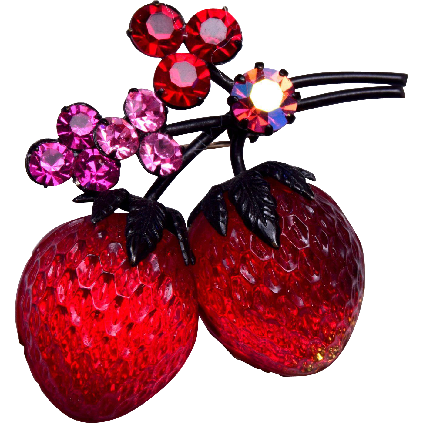 Austria Strawberry Brooch