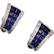 Jomaz Invisible Set Blue Stone Earrings