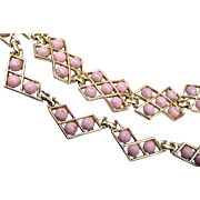 Pink Thermoset Necklace and Bracelet Set