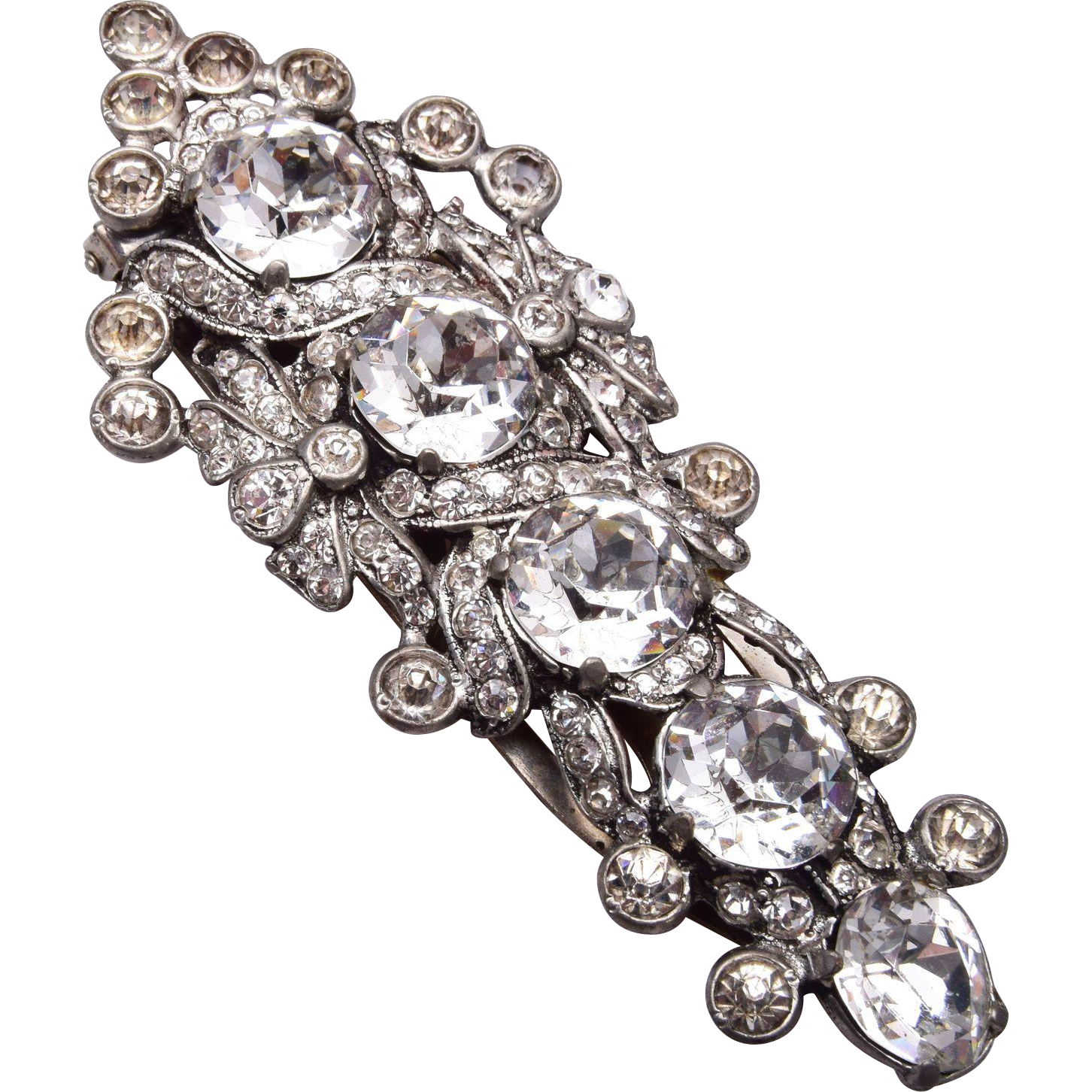 Eisenberg Original Clear Rhinestone Dress Clip