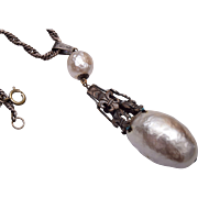 Beautiful Glass Baroque Pearl Necklace