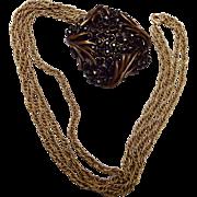 Karu Arka Inc Black Rhinestone Necklace