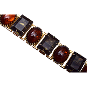 Brown Rhinestone Bracelet