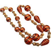 Alice Caviness Covered Beads Necklace