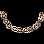Symmetalic Sterling and 14kt Gold Bracelet