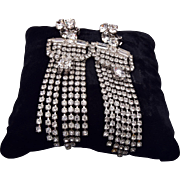 Shoulder Tickling Rhinestone Earrings
